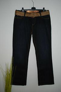 NEU X-Mail | stretchige Jeans Stretchjeans | Pailletten | D-BLAU | Gr. 44 46 48