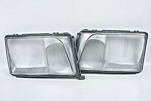 Headlight Lamp Lenses PAIR Fits MERCEDES W124 Facelift 1993-1996