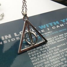 New Hot Silver Movie Triangle Deathly Hallows Metal Necklace Pendant Gifts ZLMG