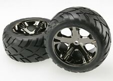 Traxxas [TRA] Rear Black Chrome Wheels & Anaconda Tires (2) TRA3773A