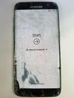 Samsung Galaxy S7 Edge 32GB Black G935W8 (Unknown) Damaged Read Carefully MD1994