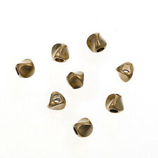 4x3mm Solid Brass Triangular Prism Spacer Beads, Approximately 25 Beads