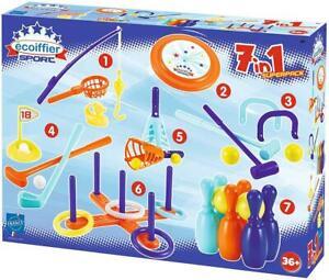 Ecoiffier 189 Outdoor Spielset Spiele Frisbee Golf Ringwurfspiel Krocket