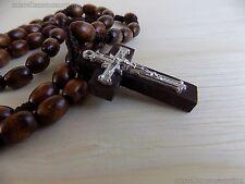 Wooden Virgen de guadalupe Rosary- color brown- Rosario de guadalupe - Madera