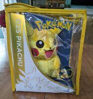 Waving Pikachu 025 Pokemon Plush 20th Anniversary Nintendo Tomy 053941187354