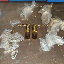 Eurolock brass door handles 4 pair with catches
