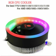 RGB 100mm Colorful LED Ring PC CPU Cooler For AMD Intel 775/1366/AM2/AM2+/AM3 10