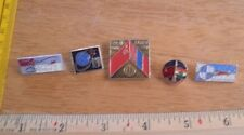 Russian Soviet Space pin lot of 5 from large collection Astronauts rockets 1H