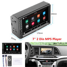 "7"" 2 Din Touch Screen Car Radio Stereo Bluetooth FM / USB Aux Input MP5 Player"