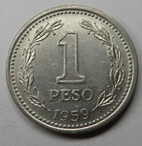 Argentina Peso 1959 Nickel Clad Steel KM#57 UNC
