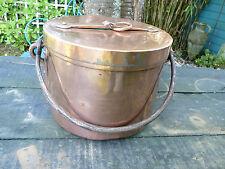CHAUDRON A COUVERCLE MARMITE  FIN 18EME/DEBUT 19EME CUIVRE, copper cauldron