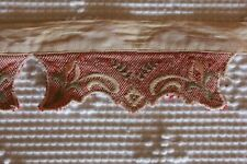 Antique Embroidered Victorian Era Linen Collar Clothing Trim #3