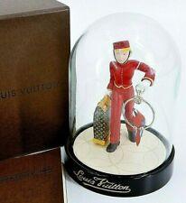 LOUIS VUITTON Snow Globe Dome Page Porter Bell Boy Ornament Novelty 2012 w/Box