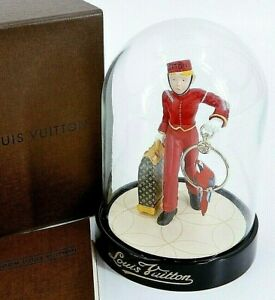 LOUIS VUITTON Snow Globe Dome Page Porter Bell Boy Ornament Novelty 2012 w/Box