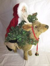 HEN HOUSE Joyce Ditz Designs Santa on Reindeer Dearest OPA 2nd LE ~ VINTAGE EXC