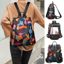 Women Oxford Cloth Backpack Anti-theft Camo Printed Casual Travel Shoulder Bag
