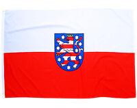 Fahne Thüringen Querformat 90 x 150 cm Flagge Wappen Bundesland Hiss Flagge BRD