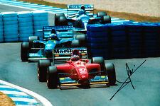 Jean Alesi Hand Signed Ferrari Photo 12x8 1.