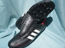 Adidas VTG Rare Thoroughbred Men 10 Black White Stripe Red Soccer Cleat Made USA
