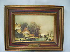 Andreas Schelfhout framed print on canvas reproduction dutch 1787-1870 painting