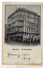 Marseille - Le Grand Hotel Photo Postcard c1909