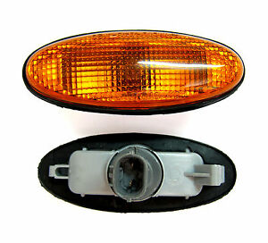 FOR FORD COURIER MAZDA 121 323 626 TRIBUTE ORANGE SIDE INDICATOR LIGHT LAMP PAIR
