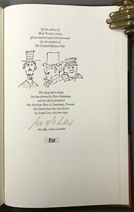 [Limited Editions Club]  Twain  The Notorious Jumping Frog  Joseph Low  LEC 1970