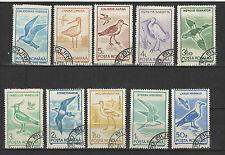 oiseaux ROUMANIE 1991 série de 10 timbres oblitérés / T1708