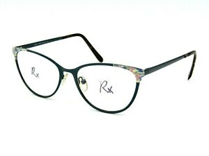 Phoebe Couture P297 Women's Metal Eyeglasses Frame, Green 54-17-140 #21E
