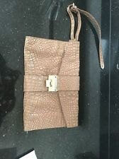 Jimmy Choo Exotic Leather Tan/Nude Clutch Bag *REDUCED*