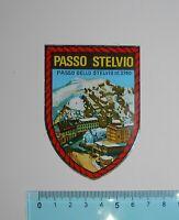 VINTAGE ADESIVO STICKER AUTOCOLLANT PASSO STELVIO MT. 2760 ANNI '80 6x8 cm