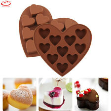 10 Heart Shaped Chocolate Candy Cookie Mold Cake Jelly Silicone Mold Mold Tray