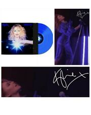 Kylie disco blue vinyl hand signed photo hmv WORLDWIDE