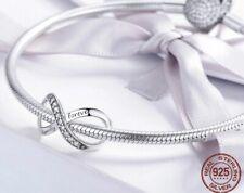 ✅Charms Anhänger Unendlichkeit 925er Silber Forever Family kompatibel m. Pandora