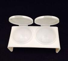 Nail Art Double Dappen Dish Case Acrylic Liquid Powder UV Gel Tips Tools STUK