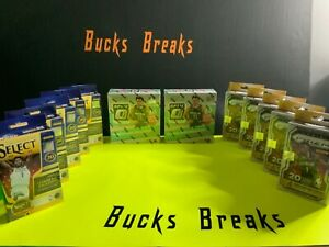 Chicago bulls 🏀2020-21 Optic Basketball 2 MEGA 5 Prizm+5 Select Hanger Break