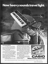 1983 Casio Casiotone MT-70 Keyboard photo Heavy Sounds Travel Light print ad