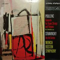 RCA LSC-1992 SHADED DOG POULENC ORGAN CTO STRAVINSKY JEU DES CARTES MUNCH EX+/NM