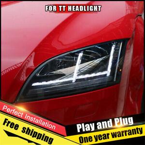 For Audi TT Headlights assembly Bi-Xenon Lens Double Beam HID KIT 2008-2015