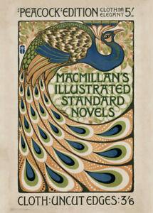 Macmillan's Illustrated Novels, 1896, Reproduction Vintage Art Nouveau Poster