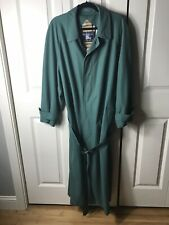 Women's Vintage Burberry Trench Coat Size 40R Green Used