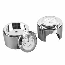 "7/8"" 1"" Handlebar Clock +Thermometer For Honda VTX 1300 C R S RETRO GL 1500 1800"