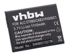 Akku für Alcatel One Touch OT-903D, OT-908, OT-908M 1100mAh 3.7V Li-Ion