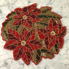 """Nicole Miller BEADED PLACEMATS. SET OF 2.   15"""" dia.  NWT   BEAUTIFUL!"""