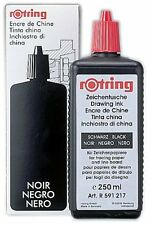 Rotring 216630 Isograph Bottled Liquid Ink - 250 ml, Black