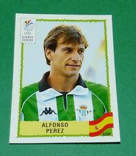 N°205 ALFONSO PEREZ SPAIN ESPAÑA ESPAGNE PANINI FOOTBALL UEFA EURO 2000