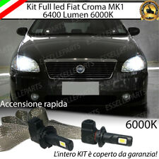 KIT FULL LED FIAT CROMA PRE RESTYLING LED H7 6000K XENON ANABBAGLIANTI 6400LUMEN