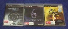 Resident Evil 5 Gold Edition, Resident Evil 6, Resident Evil Revelations for ps3