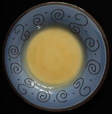 Tabletops Unlimited AMBROSIA Kiwi Blue Pasta Bowl Plate Platter 3D Swirls 13""