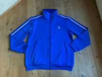 Trainingsjacke von Adidas blau Waffelpiquet Baumwolle Sweat 70er vintage L